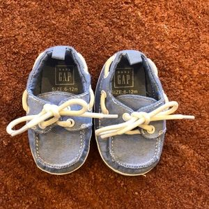 Baby Gap Light Chambray slip-on shoes